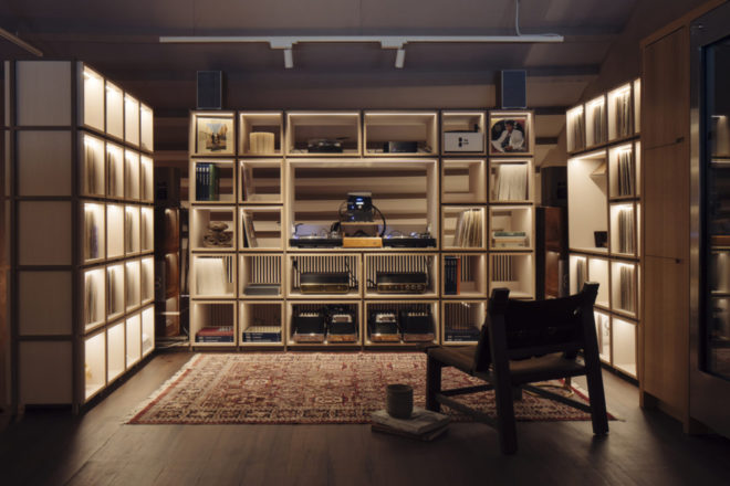 A restaurant in Singapore has been fit out with a 3,000-strong vintage vinyl collection