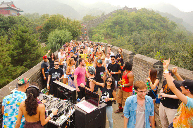 China is throwing an underground music festival on the Great Wall of China