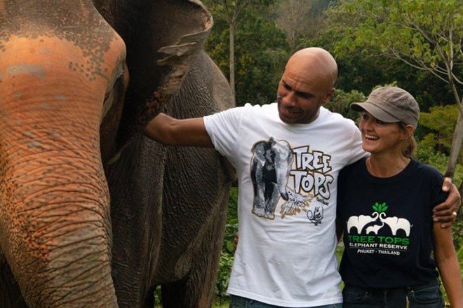 Goldie steps up to raise money for an endangered elephant reserve in Thailand