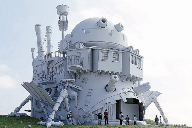 Howl's Moving Castle is being built to scale in Japan