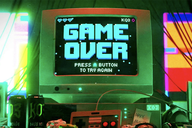 Video Games and electronic music intermingle once again in KO3's Game Over EP