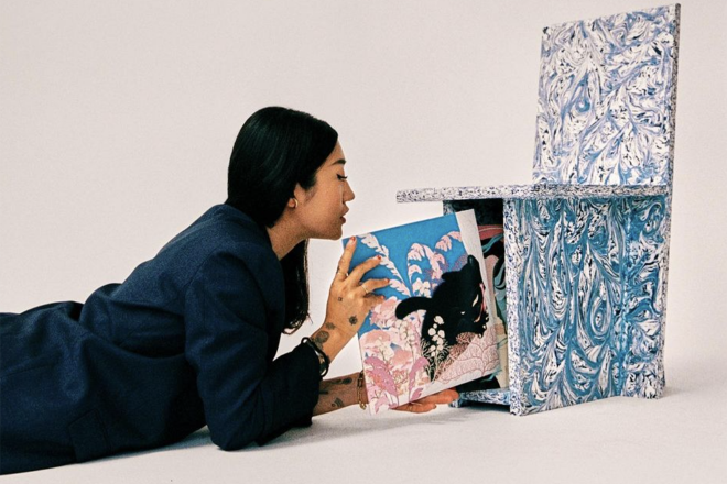 Peggy Gou collaborates with Spaces Available in Bali on a chair made from 100% recycled plastic