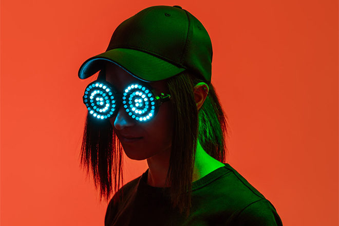REZZ is giving away 3 pairs of her signature goggles to fans in Asia