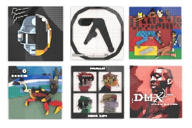 LEGO artist has recreated album covers from Gorillaz, Daft Punk & Aphex Twin