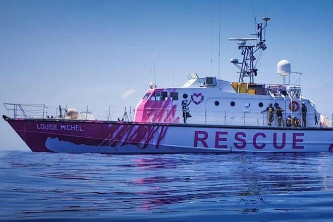 Banksy's financed a refugee rescue boat