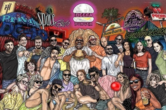 A dance music themed gourmet burger joint has opened in Ibiza
