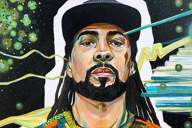 An artist has painted your favourite drum 'n' bass and jungle DJs